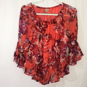 Lucky Brand Blouse Top Size S